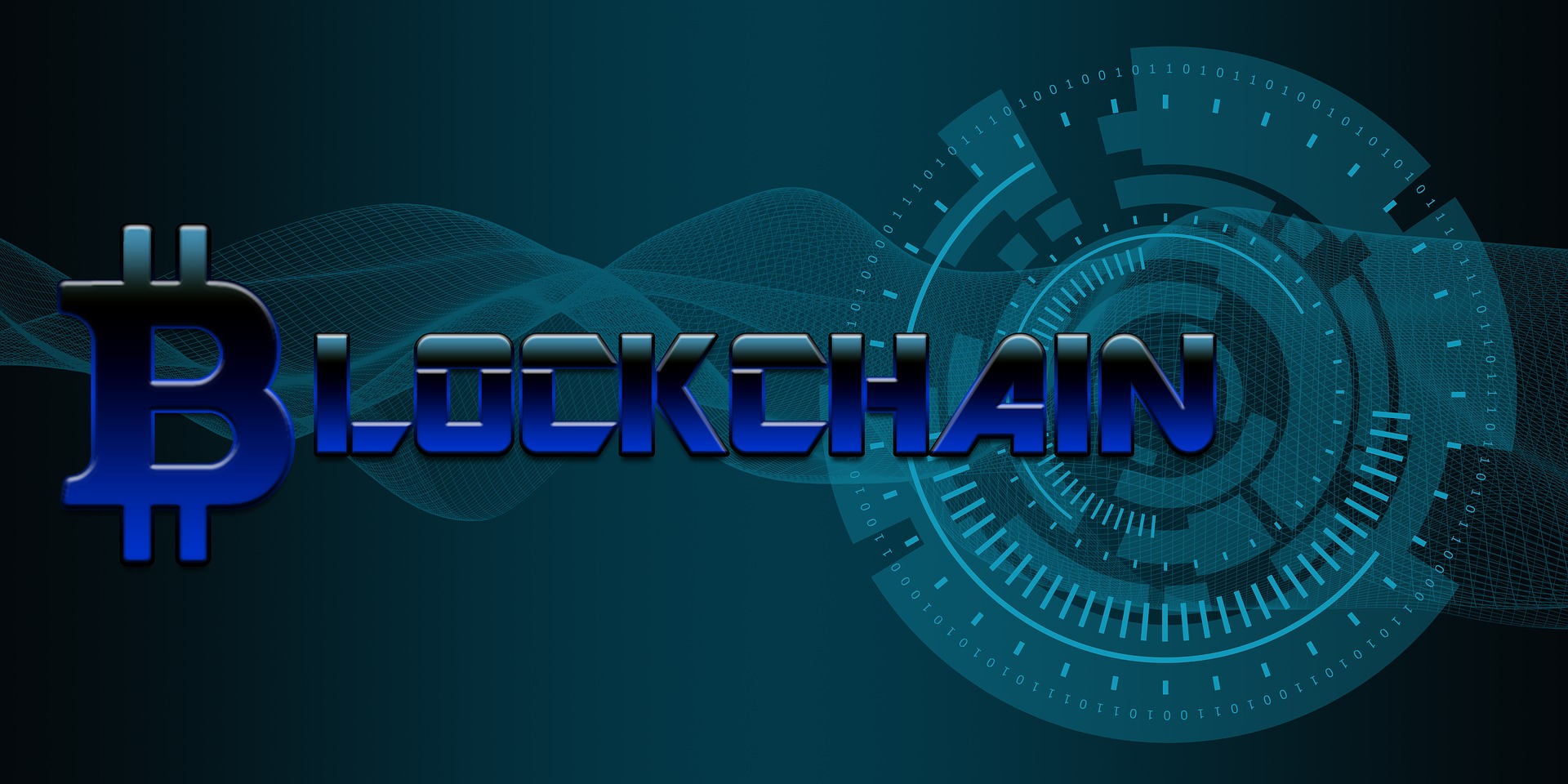"""A very stylized version of the word """"Blockchain."""""""