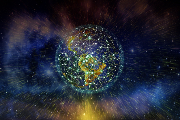 The internet (emphasis on the -net) crosses all over our world like a spider-web.